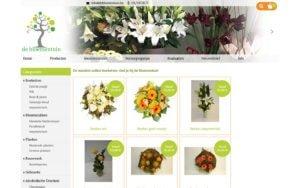 Webshop de bloementuin CMS op maat