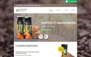 Website ontwerp Houtpellets Vanderstraeten Dendermonde