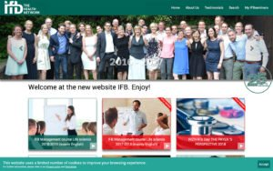 Website ontwerp IFB The Health Network CMS op maat