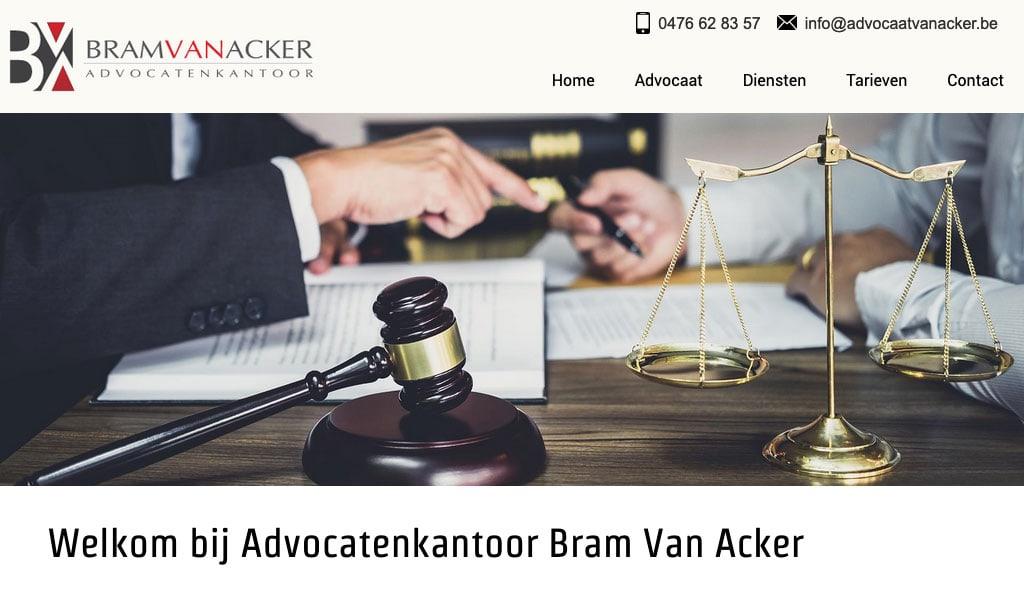 website advocaat bram van acker merelbeke