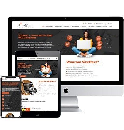 Webdesign Grimbergen. Siteffect webdesign ontwikkelt je professionele en betaalbare website 100% op maat van je business en budget.
