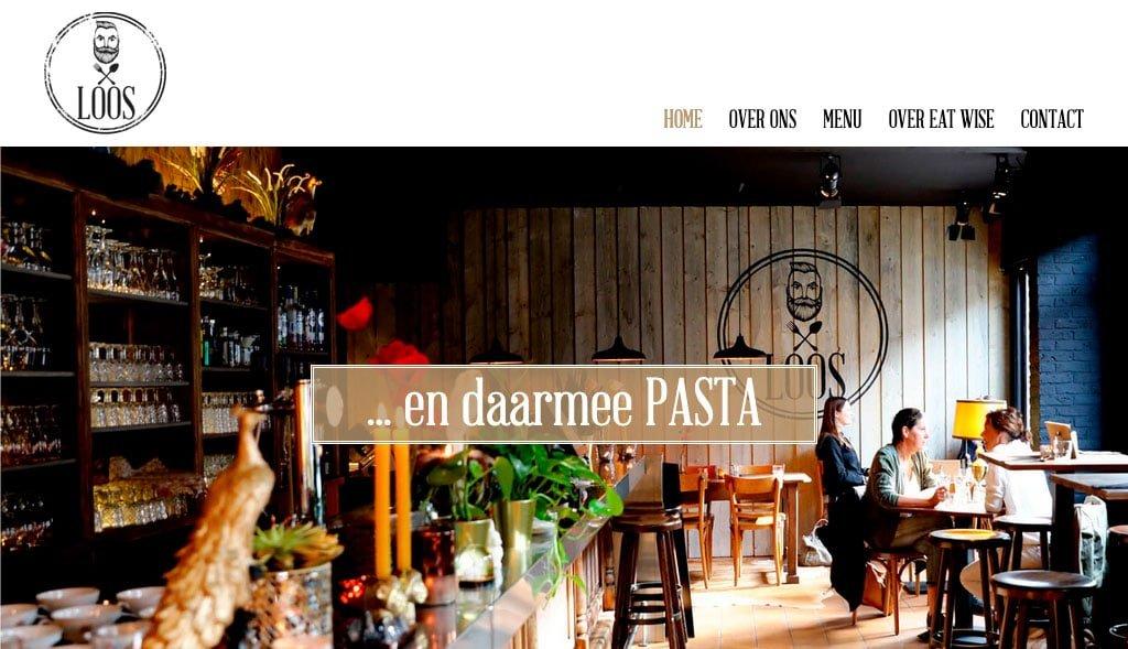 website voor pastarestaurant loos