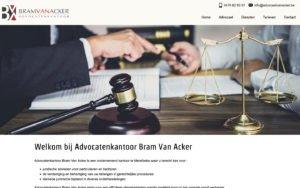 Advocatenkantoor Bram Van Acker - website webdesign