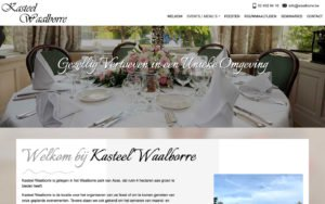 Kasteel Waalborre te Asse - website webdesign