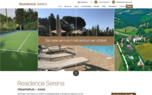 Vakantiehuis Residence Serena - WordPress website webdesign site web
