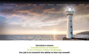 Samskara WordPress website webdesign