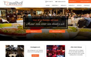 Feestzaal 't Zavelhof Webdesign Website creation