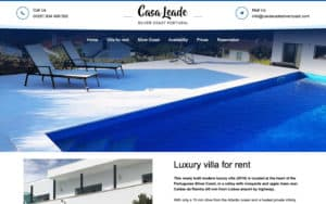 Casa Leade Silvercoast Portugal Webdesign Website