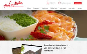 Restaurant Hof ter Molen Website Webdesign